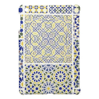 Middle Eastern Tile Patterns in Blue and Yellow Case For The iPad Mini