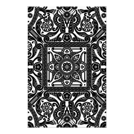 Middle eastern vintage pattern stationery design