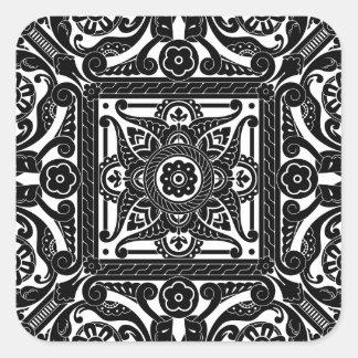 Middle eastern vintage pattern square sticker