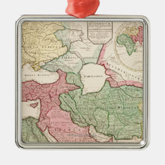 Middle EastPanoramic MapMiddle East Metal Ornament