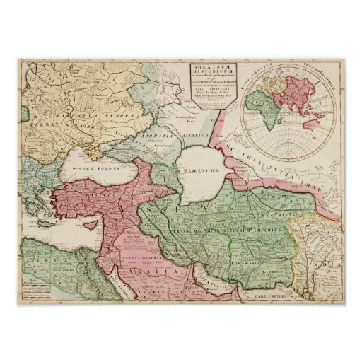 Middle EastPanoramic MapMiddle East Posters