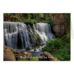 MIDDLE FALLS 2 GREETING CARD