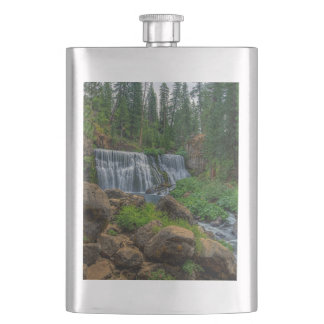 MIDDLE FALLS ON THE McCLOUD Flasks