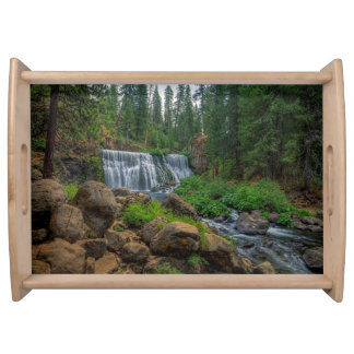 MIDDLE FALLS ON THE McCLOUD Serving Tray