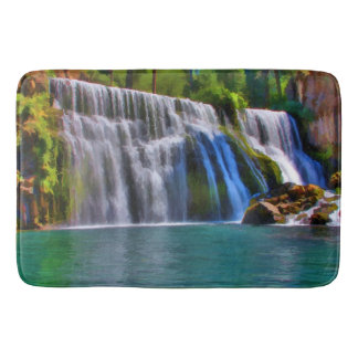 MIDDLE FALLS ON THE McCLOUD RIVER Bath Mats