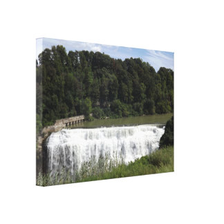 Middle Falls, Rochester, New York Wrapped Canvas
