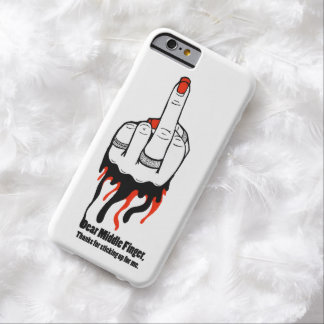 Middle Finger Barely There iPhone 6 Case