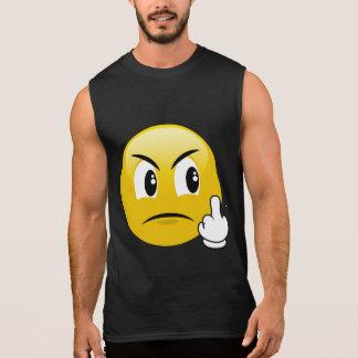Middle Finger Emoji Sleeveless Shirt