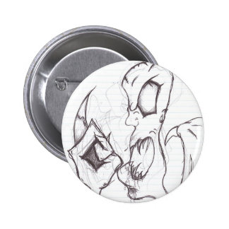 Middle Finger Monster 2 Inch Round Button