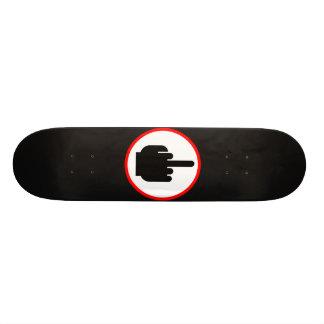 Middle finger skateboard
