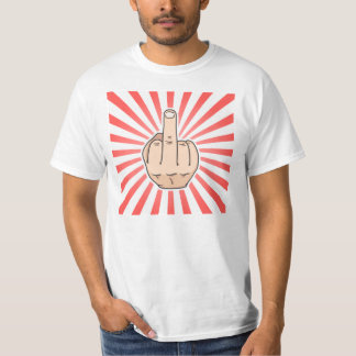 Middle finger with red stripes design T-Shirt