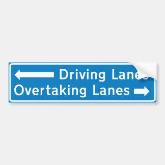 Middle Lane Hogger Bumper Sticker