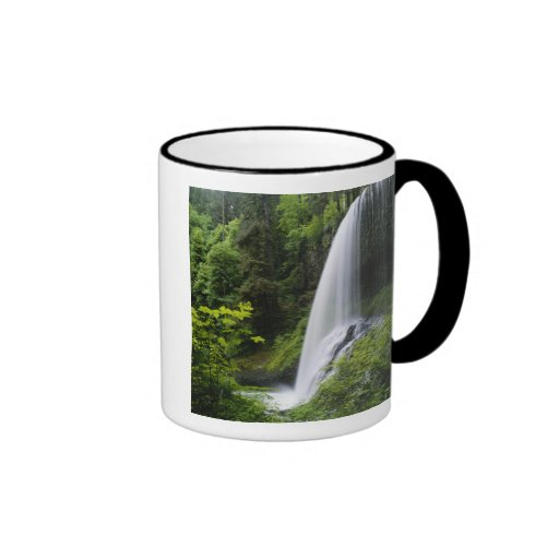 Middle North falls, Silver Falls State Park, Ringer Coffee Mug
