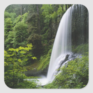 Middle North falls, Silver Falls State Park, Square Sticker