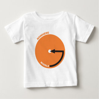 middle of nowhere map baby T-Shirt