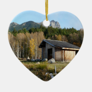 Middle of Nowhere Rustic Cabin Scene Christmas Ornament