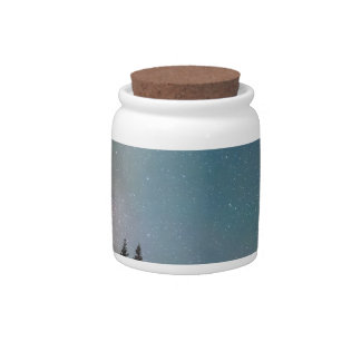 Middle of the Night Milky Way Rocky Mountains Candy Jars