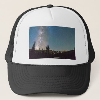 Middle of the Night Milky Way Rocky Mountains Trucker Hat