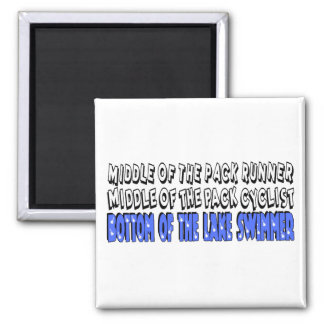 Middle of the Pack 2 Inch Square Magnet