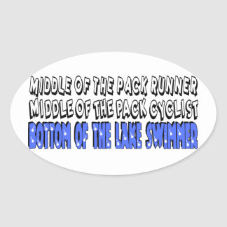 Middle of the Pack Oval Sticker