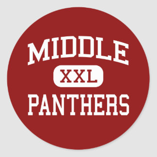 Middle - Panthers - College - Long Island City Classic Round Sticker
