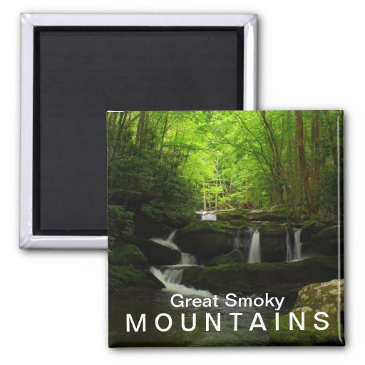 Middle Prong Tremont Cascade Waterfall Refrigerator Magnets