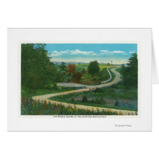Middle Ravine View of Saratoga Battlefield Card
