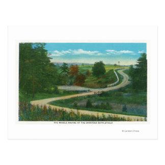 Middle Ravine View of Saratoga Battlefield Postcard