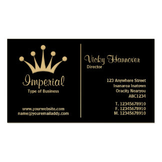 Middle Rule (Crown) - Black (Gold) Double-Sided Standard Business Cards (Pack Of 100)
