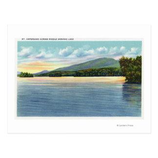 Middle Saranac Lake View of Mount Ampersand Postcard