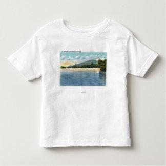 Middle Saranac Lake View of Mount Ampersand Toddler T-shirt