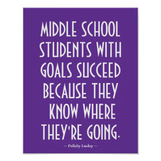 Middle School Classroom Poster in Purple