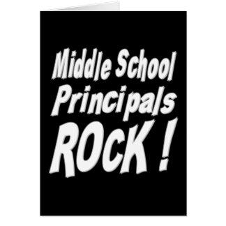 Middle School Principals Rock! Greeting Card