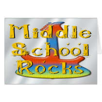 Middle School Rocks - Guitar Card