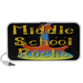 Middle School Rocks - Guitar Doodle Laptop Speakers