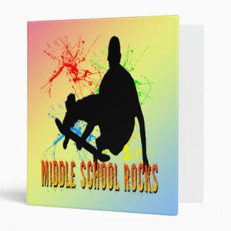 Middle School Rocks - Skateboarder Binder