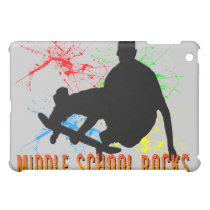 Middle School Rocks - Skateboarder  Cover For The iPad Mini