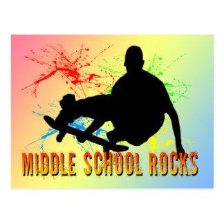 Middle School Rocks - Skateboarder Postcard