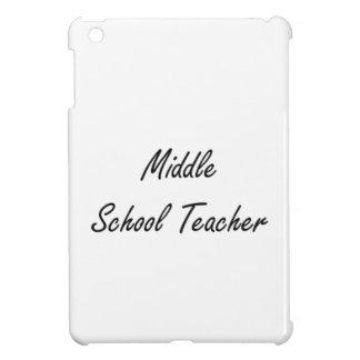 Middle School Teacher Artistic Job Design iPad Mini Covers