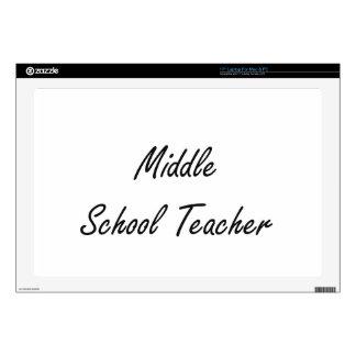 "Middle School Teacher Artistic Job Design Skin For 17"" Laptop"