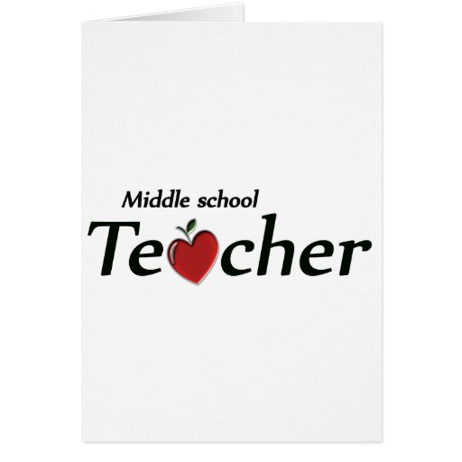 Middle School Teacher Card
