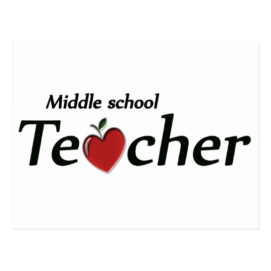 Middle School Teacher Postcard