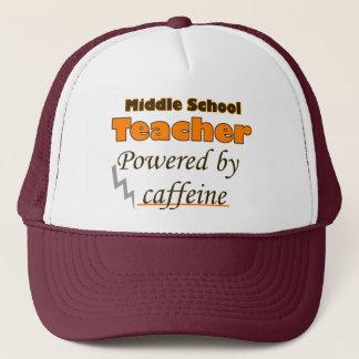 Middle school Teacher Powered by caffeine Trucker Hat