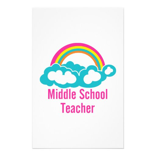 Middle School Teacher Personalized Stationery
