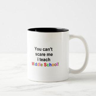 Middle school teacher Two-Tone coffee mug