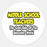 Middle School Teachers...Cool Kids Round Stickers