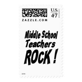 Middle School Teachers Rock ! Postage