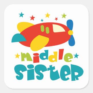 Middle Sister Plane Square Sticker