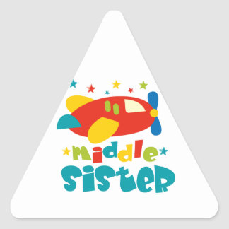 Middle Sister Plane Triangle Sticker