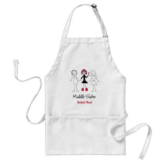 Middle Sister Rebel Red Apron